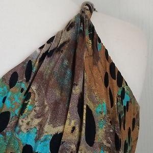 Sky Dresses - Sky Golden Leopard Dress nwot